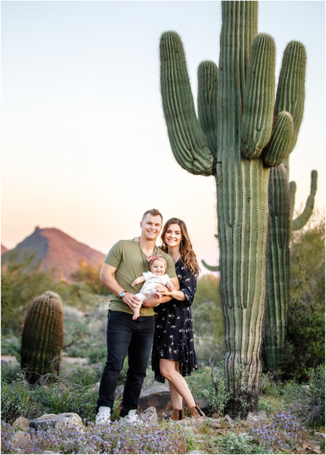The Pederson Family Photos in the Blooming Spring Desert