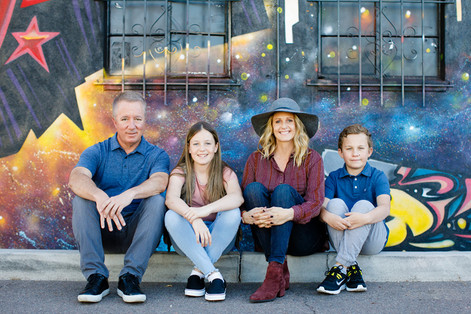 Colorful Family Photo Session in Downtown Phoenix