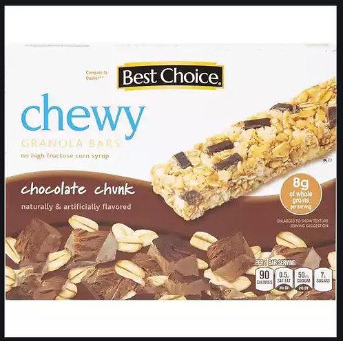BC CHOCOLATE CHUNK CHEWY GRANOLA BARS  10 BARS