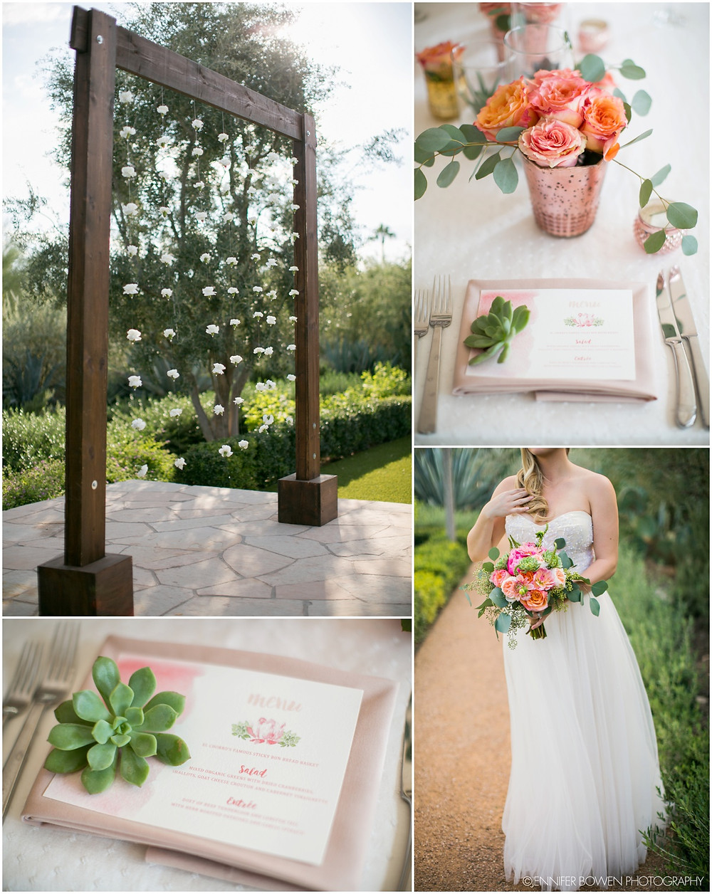 ceremony, altar, flowers, decorations, ideas, rustic, wood, arch