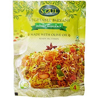 SOUL VEGETABLE BIRYANI 65G