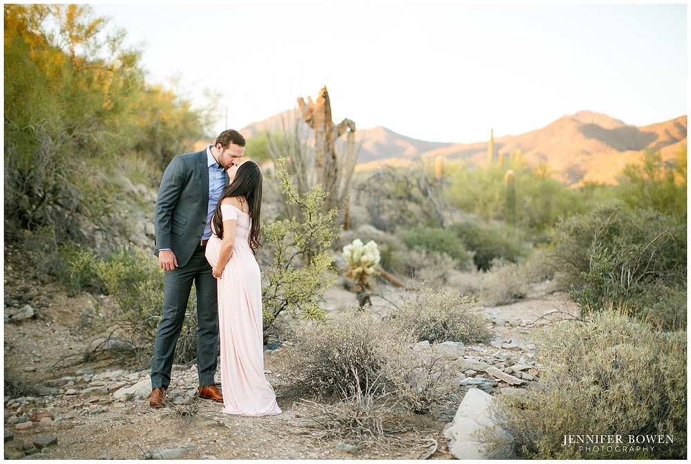Romantic desert maternity session in Scottsdale