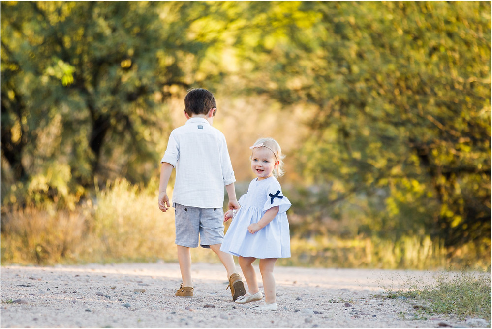 kids and family portraits in scottsdale