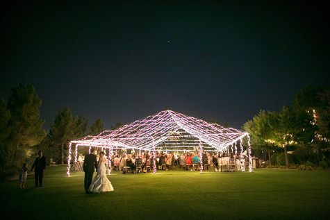 wedding photos, paradise valley country club, scottsdale, arizona, wedding locations, country club weddings, ceremony, jennifer bowen photographer, outdoor tent, open tent wedding, farm tables, gray and white, details, decor, ideas, lighted open tent, night time