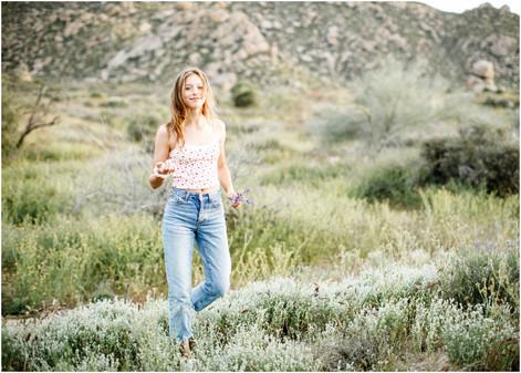 Springtime Desert Teen Portrait Session
