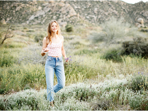 Springtime Desert Teen Portrait Session
