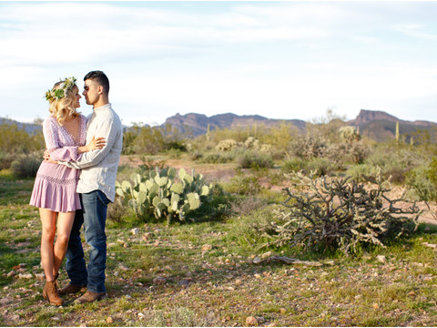 Romantic Boho Engagement Session in Arizona