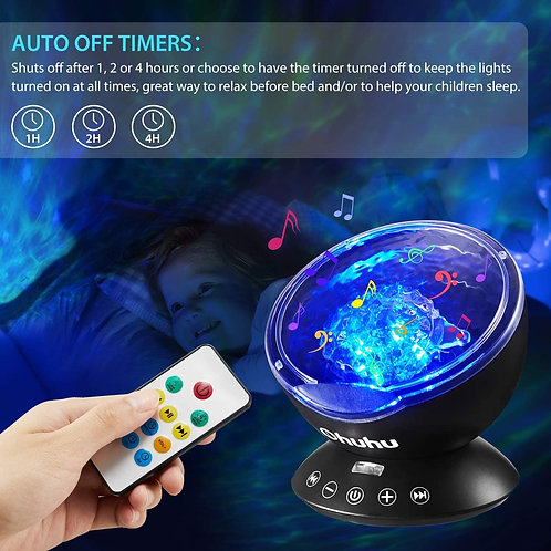Colorful Ocean Wave Starry Aurora LED Projector
