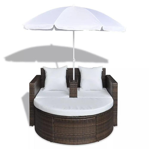 Outdoor Patio Canopy Cushioned Daybed