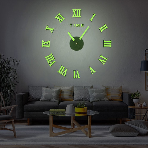 Retro DIY Acrylic Clock Mirror Sticker Table Wall Large Wall Clock