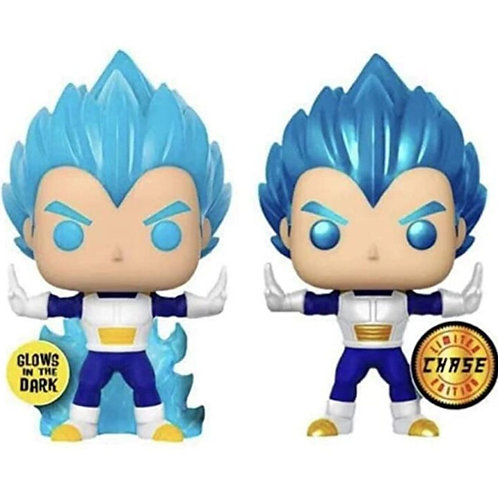 Dragon Ball Z Super Saiyan Vegeta Powering Up Blue Vinyl Figure Model Toys