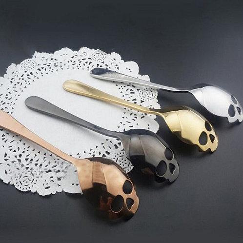 Stainless Steel Skull Spoon