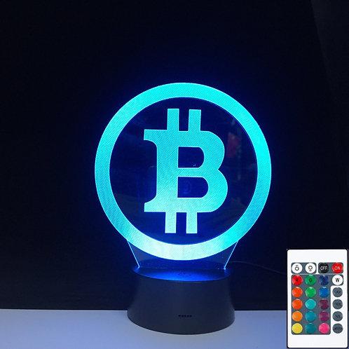 Bitcoin 3D Light 3D LED