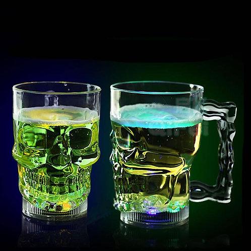 New Creative LED Skull Cup Bar Pub Wine Drink Mug Barware Water Activated