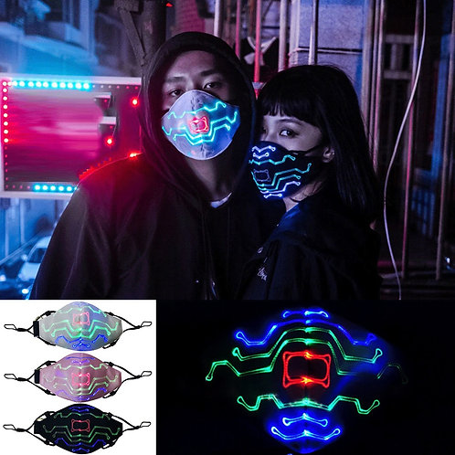 Voice-Activated Breathable Party Face Mask