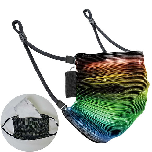 7 Color LED Glowing Personality Chargeable Dustproof Mask