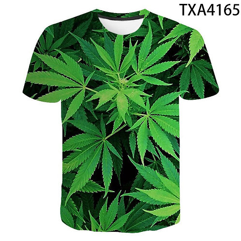 Weed Green Leaf 3D T-Shirt