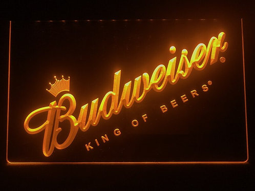 002- Budweiser Beer Bar Pub Club NEW LED Neon Light Sign