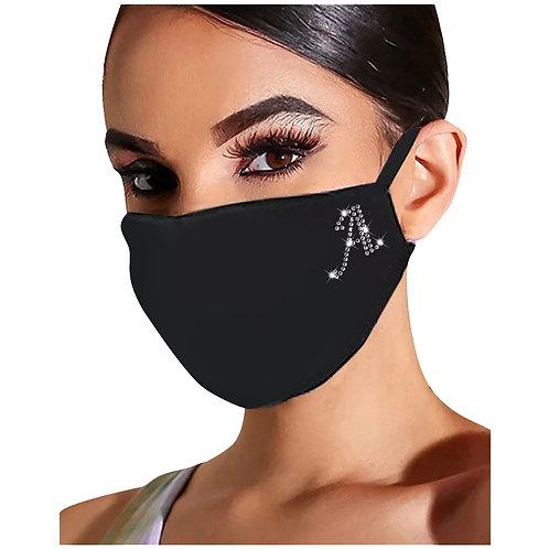 Unique Letter Bling Mask for Women