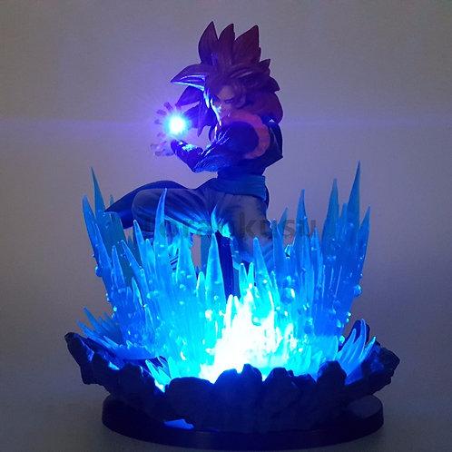 Dragon Ball Z Action Figures Goku Super Saiyan Led Lights Scene