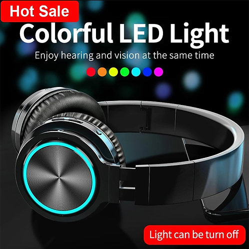 Noise Cancelling LED Strong Bass Bluetooth 5.0 Headset