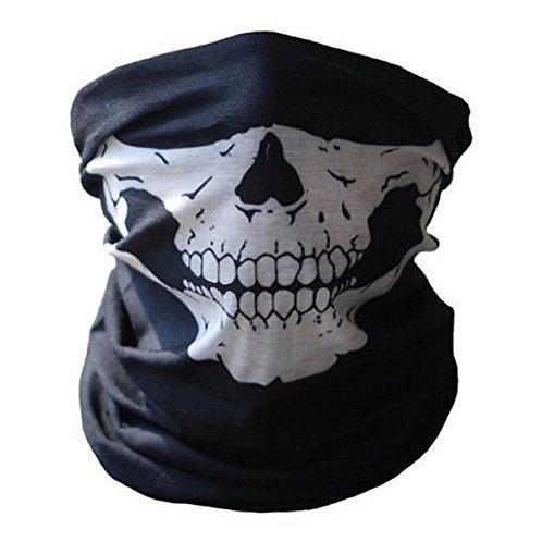 Multi-Functional Black Skull Bandana Neck Face Mask