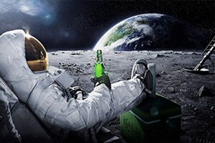Astronaut Relaxing on Moon Picture