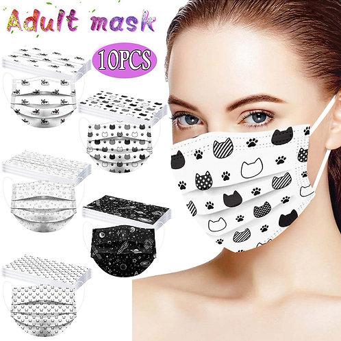 10PCS Disposable Face Mask 3 Ply Earloop Anti-Pm2.5 Masks