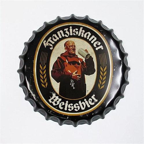 Metal Beer Bottle Cap Tin Sign