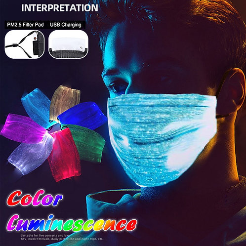 Led Colorful Glowing Rechargeable Mask