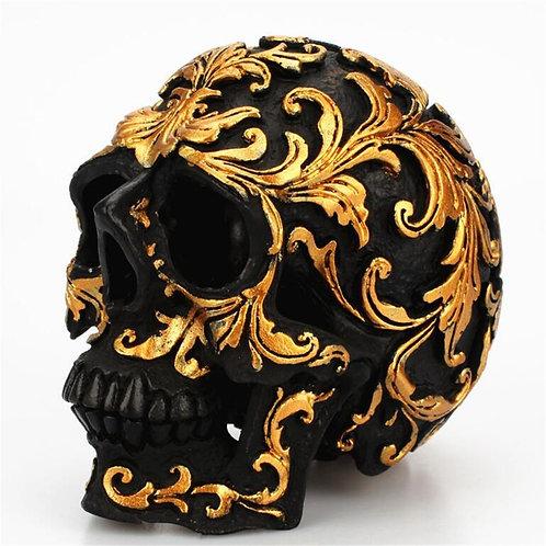 Rose Gold Black Skull Art Statue