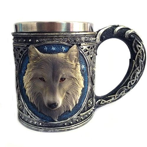 3D Wolf Head Mug