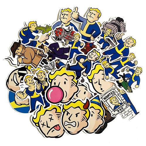 29Pcs Fallout Waterproof Stickers