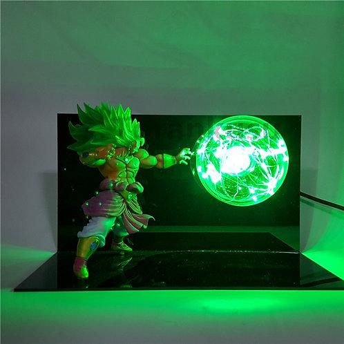 Dragon Ball Z Broly Super Saiyan Led Table Lamp