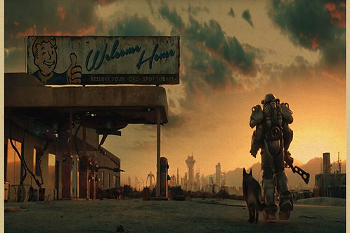 More Style Choose Fallout Game  Art Print Silk Poster 24x36inch