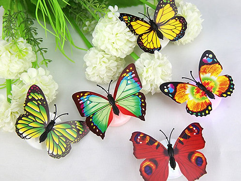 1pcs Colorful Changing Butterfly LED Light