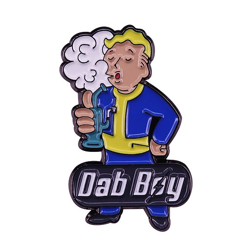Fallout Vault Boy Parody Rave Music Festival Pin Video Gamer's Funny Collection