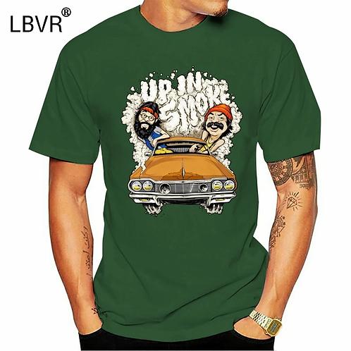 Cheech Chong Up in Smoke Weed 420 Puff Puff Pass Movie Tee T-Shirt