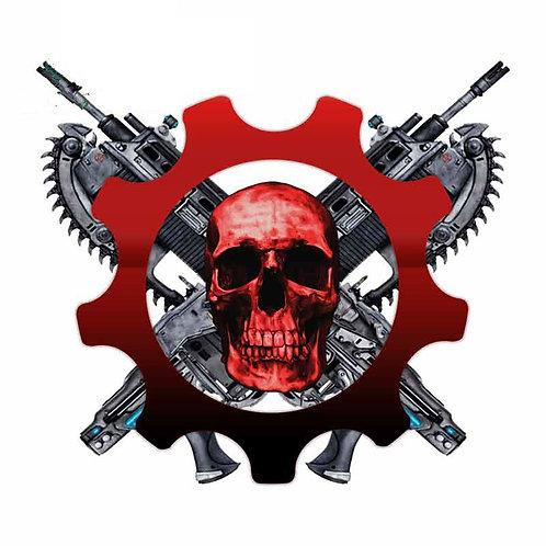 Waterproof Scratch-Proof Gears of War Skull Logo Car Decal