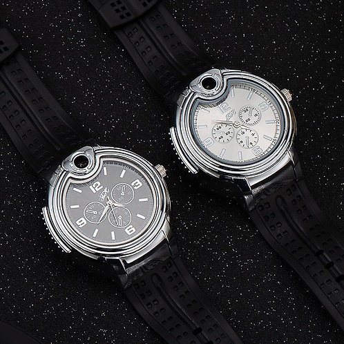 Watch Style Metal Open Flame Lighter