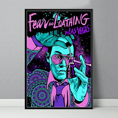 Fear and Loathing in Las Vegas Classic Movie Painting Art Poster Canvas