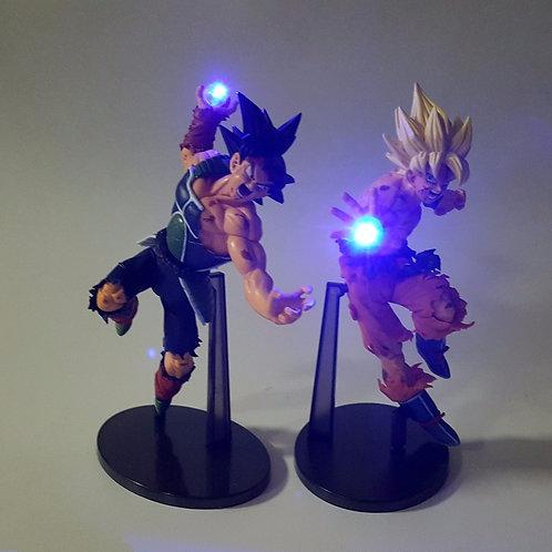 DBZ Action Figures Goku Burdock Kamehameha Led Light