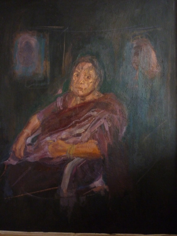 J Chuhan 'HKC' 2009 oil on canvas 120 x