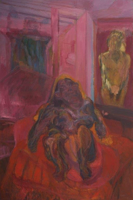 J Chuhan 'Figures in a Pink Room' 2016 o