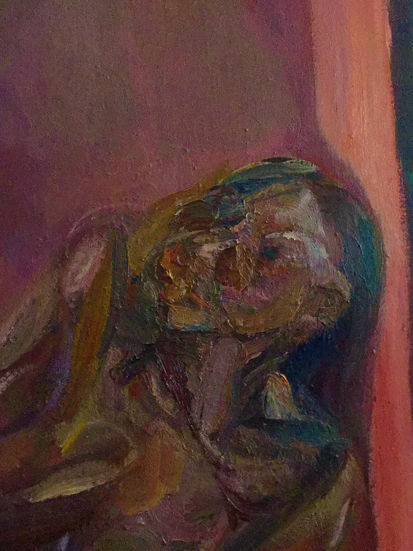 J Chuhan 'Figure in Interior' 2017 oil o