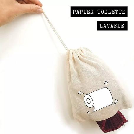 Le papier toilette lavable