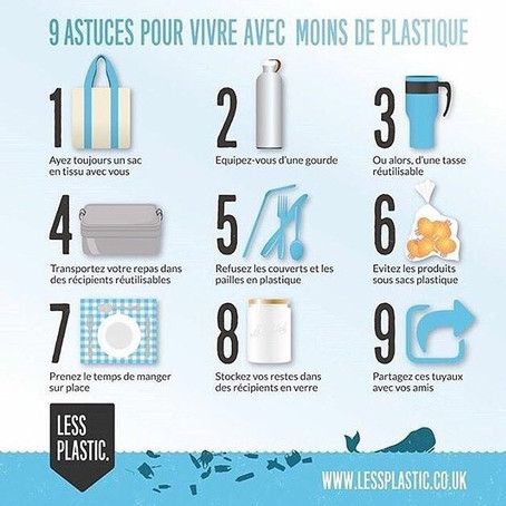 9 astuces pour vivre avec moins de plastique