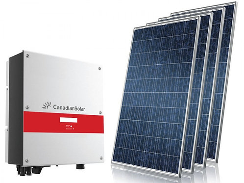 Kit de gerador fotovoltaico Canadian Solar