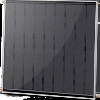 Coletor Solar alumínio e serpentina de cobre fechado com vidro termo-endurecido