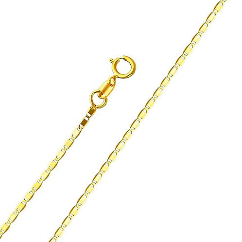 14k Yellow Gold 1.3-mm Valentino Chain Necklace